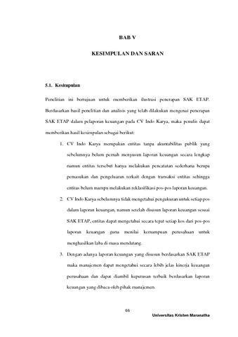 Ilustrasi Implementasi Standar Akuntansi Keuangan Entitas Tanpa Akuntabilitas Publik Sak Etap Sebagai Pedoman Pelaporan Keuangan Pada Cv Indo Karya Mcurepository